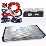 Hifonics BXX3000.1D Brutus Class D 3000W RMS Mono Car Subwoofer Amplifier w/Amp Kit