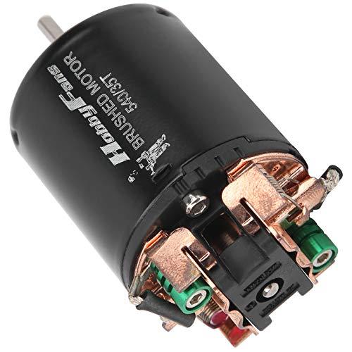 VGEBY Motor de Coche 540 35T RC, Motor eléctrico de Oruga de Coche RC con cojinete bidireccional Apto para Coche Traxxas 1/10 RC