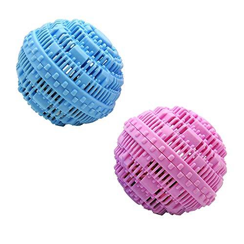 DXIA 2 Piezas Bolas para Lavadora, Bolas de Limpieza de lavandería, Reutilizables Bolas de Limpieza de Lavadora con Alternativa de Cuentas de Lavandería, Rosa Azul