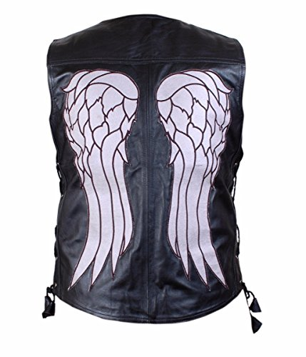 Feather Skin Giacca Uomo The Walking Dead Governor - Daryl Dixon Angel Wings Pelle Vest Giacca- M