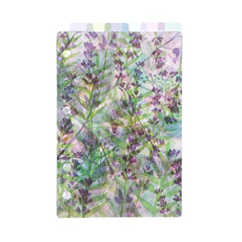 Lounayy Floral Zeigefinger Index Seite Katalog Trenner Basic Mode Index-Seite Für Laptop 6 Löcher A5 Sale Burobedarf Täglich Gebrauch Produkt (Color : A7, Einheitsgröße : Einheitsgröße)