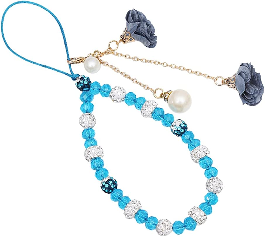 Crystal Ranking TOP3 Mobile Phone New arrival Chain Beaded Str Lanyard Charm Wrist