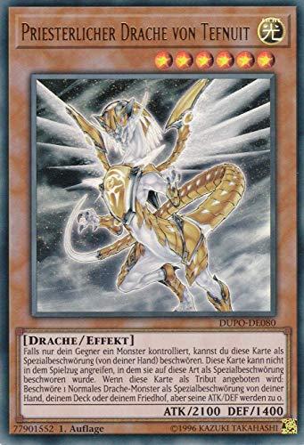 Konami TCG - DUPO-DE080 - Priesterlicher Drache von Tefnuit - Ultra Rare - Yu-Gi-Oh! - Deutsch - mit GECO® Versandschutz