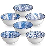 DeeCoo 6 Pack 24-Ounce Japanese Style Ceramic Cereal Bowls for Cereal, Salad, Soup, Pho, Ramen,...