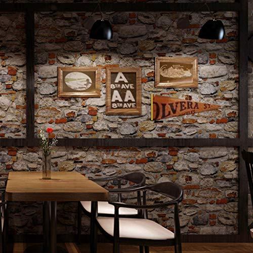 Papel Pintado Papel Pintado de la Textura de Piedra de la Roca del Papel Pintado del PVC del Papel Pintado del café del Restaurante de la Personalidad Papel Tapiz de Fondo Fine Decor Wallcoverings