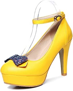BalaMasa Womens APL11975 Pu Stiletto Heels
