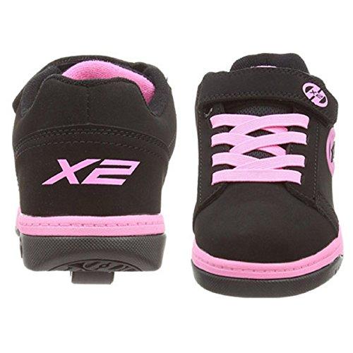 Heelys Unisex-Kinder Dual Up Sneaker, Schwarz (Black/Pink Black/Pink), 36.5 EU