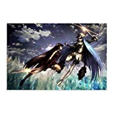 Akame Ga Kill Anime Esdeath Vs Akame Poster Decorative Painting Canvas Wall Art Living Room Posters Bedroom Painting 20×30inch(50×75cm)