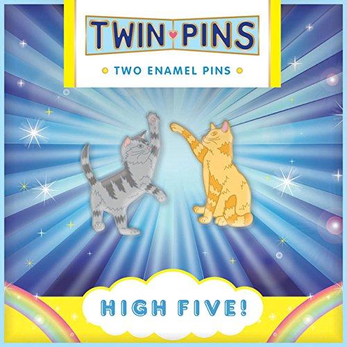 High Five Twin Pins: Two Enamel Pins