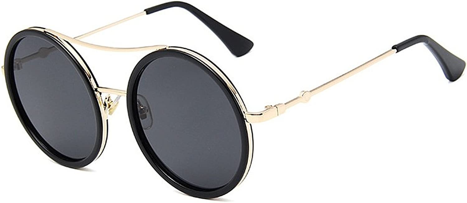 STEVAP Personality Red&Green Frame Lady's Sunglasses Round Sunglasses for Women UV Predection for Driving Travelling