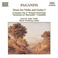 Music for Violin & Guitar 1 by NICCOLO PAGANINI (1994-02-15)