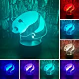 Panda 3D LED Optical Illusion Bedroom Decoration Table Lamp with Remote 7 Colors Change Dimmable Acrylic Visual Night Light Birthday Christmas Gift for Child,kids,Nursery,Toddlers