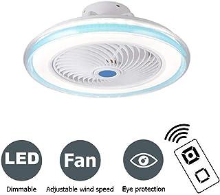PPAMZ Ventilador de Techo con Lámpara 72W, LED Luz del Ventilador, 3 Velocidades, 3 Colores Regulables, con Control Remoto Inteligente, Interiores Plafón de Techo para Habitación de Niños, Azul