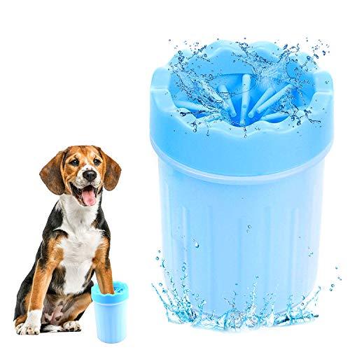 WELLXUNK® Hundepfote Reiniger, Pfote Reiniger für Haustiere, Haustier Pfotenreiniger, Tragbare Haustier fuß Reinigung Geeignet zum Reinigen der Füße von Haustieren(Blau)