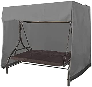 Patio Swing Cover 3 Seater Swing Covers for Outdoor Furniture Patio Swing Cover Durable Hammock Outdoor Swing Glider Cover...
