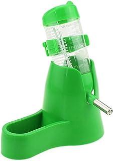 XuBa - Botella de hámster de 125 ML con Recipiente de Alimentos y Base para jarrón de Agua para Animales pequeños, Ratas, ...