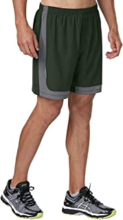 R-Gear Men's Power Up 2-in-1 Running Workout Shorts, 6-inch Length with Inner Compression Shorts and Multiple Pockets