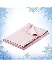 """Elegear Revolutionary Cooling Blanket Absorbs Heat to Keep Adults, Children, Babies Cool on Warm Nights, Japanese Q-Max 0.4 Cooling Fiber, 100% Cotton Backing, Summer Blanket for Night Sweats, 79""""x86"""""""