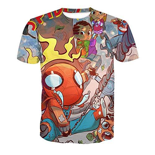 Preisvergleich Produktbild Nouxh Unisex T-Shirt 3D Drucken Passform Rundhals Kurzen Ärmeln Tees Herren Fun Shirt Stretch Slim Fit Basic Shirt beiläufige Kurzarm Polyester Baumwolle Batman