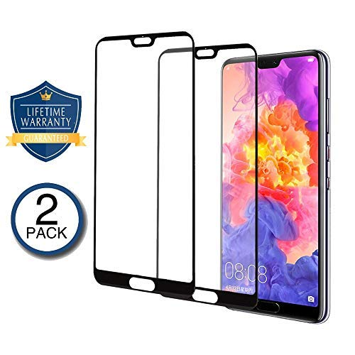 GORONING 2-PACK Huawei P20 Pro 3D Screen Protector [Edge to Edge Full Screen Coverage] Premium Tempered Glass Screen Protectors for Huawei P20 Pro Ultra Clear Bubble Free [Case Friendly]