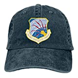 Air Force Communications Command Mens Cotton Adjustable Washed Twill Baseball Cap Hat Navy