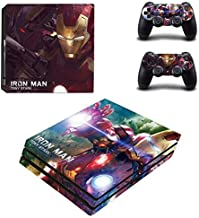 PS4 Pro Console Skin Set Vinyl Decals Stickers for Playstation 4 Pro Console Dualshock 2 Controllers Marvel (PS4 Pro Only) by AMALA NAIDU