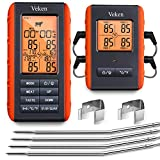 Veken Meat Thermometer for Grilling, BBQ Wireless 4 Probe Remote, Instant Read Digital Cooking Grill...