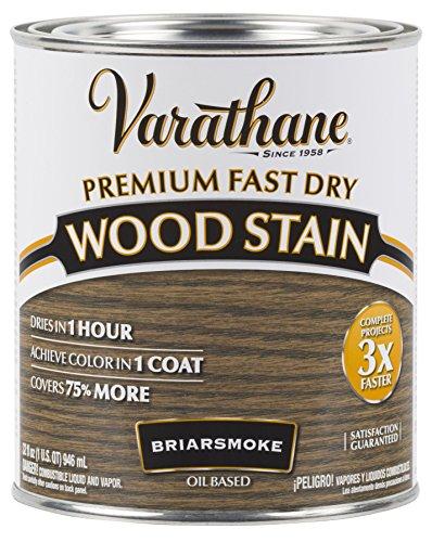 Varathane 313608 Premium Fast Dry Wood Stain, 32 oz, Briarsmoke