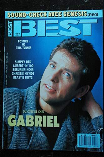 BEST 227 JUIN 1987 GABRIEL GENESIS SIMPLY RED AUBERT BERURIER NOIR CHRISSIE HYNDE BEASTIE BOYS