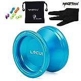 MAGICYOYO Principiantes receptivos Yoyós V6 LOCUS Yo-yos para niños con Bolsa Yo Yo Guante 5 Cuerdas Azul Profundo