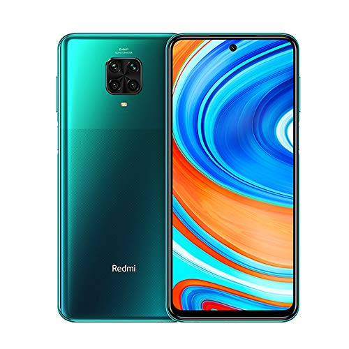 "Xiaomi Redmi Note 9 Pro Smartphone 6GB RAM 64GB ROM 6.67"" DotDisplay 64MP AI Quad Camera 5020mAh (typ) NFC Grün [Globale Version], Tropical Green"