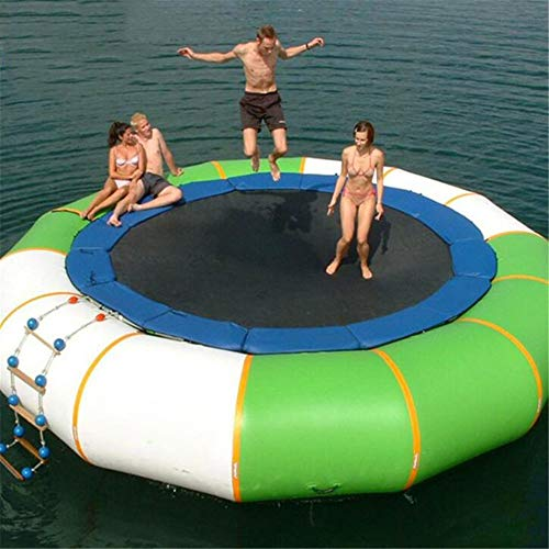 WXH Aufblasbares Wassertrampolin Bounce Splash Gepolsterter Wassertürsteher, für Wassersport-Sprung-Wassertrampolin-Schwimmplattform, hochwertiges PVC-Material