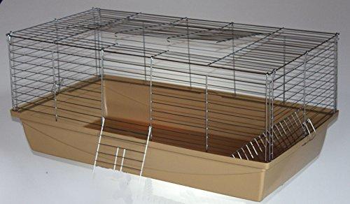 Nagerkäfig,Hasenkäfig,Meerschweinkäfig,Käfig,Rabbit,Zwergkaninchen ca. 100 x 54 x 43 cm beige