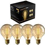 4 Pack of Woowtt Nostalgie Edison Lampe Bernstein Vintage Stil Edison Gelb Glas Glühbirne, 25W G80...