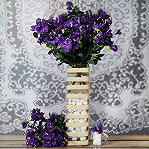 DN_HOM Wonderful 120 pcs Silk Gardenia Flowers for Wedding Centerpieces Arrangements Bouquets (Purple)