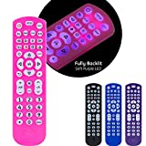 GE Backlit Universal Remote Control for Samsung, Vizio, LG, Sony, Sharp, Roku, Apple TV, TCL, Panasonic, Smart TV, Streaming Players, Blu-Ray, DVD, 4-Device, Pink, 44221