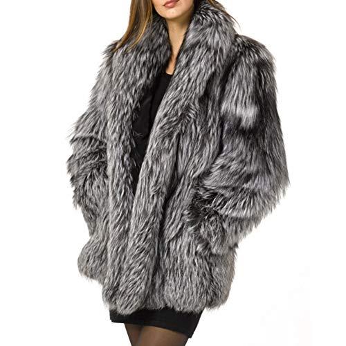 Ardorlove dames mantel van kunstbont in extra grote size parka trenchjas lang winterjas capuchon warme dikte Xs-4xl