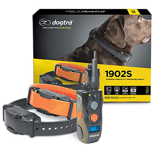 Dogtra 1902S – Ergonomic 3/4-Mile IPX9K Waterproof High-Output 2-Dog Remote Dog Training E-Collar
