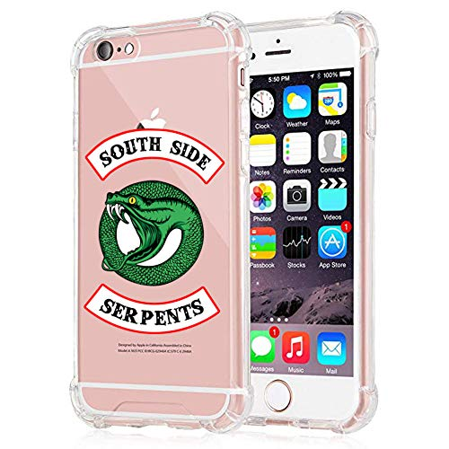 Riverdale Southside Serpents Phone Case for iPhone 6 Plus and iPhone 6s Plus, Clear Shock-Absorption Bumper Cover, Soft Scratch-Resistant TPU Riverdale iPhone 6s Plus Case 5.5 inch