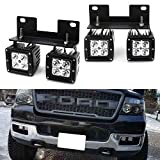 """Compatible with 2004-2006 Ford F-150 and 2006 Lincoln Mark LT Complete LED foglamp kit includes (4) 3"""" xenon white 20W high power CREE spot beam LED pods, (1) set of industry grade metal constructed OEM fog lamp area/location bracket mounts and (1) s..."""