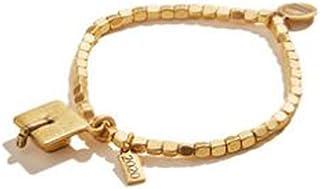 Alex and Ani 2020 Graduation Cap Stretch Bracelet Gold One Size, Rafaelian Gold