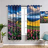 Pcglvie Lakehouse Decor Collection Cortinas térmicas con aislamiento térmico,...