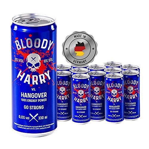 BLOODY HARRY Premium Energy Drink | MADE IN GERMANY | Natürliches, Erfrischendes & Fruchtiges Geschmackserlebnis | Natürliches Koffein & wenig Zucker | 0,33l, EINWEG (12er-Pack) inkl. Pfand 3,00€