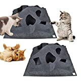 yangsl Ripple Rug Cat Activity Play Mat, Thermally Insulated Base - Training Pet Activity Play Mats, Fun Interactive Play Scratch Resistant Toys Bite Pad 100 X 100cm