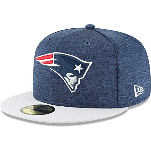 New Era Gorra 59 Fifty On Field 2018 Patriots Sideline Defended Azul - Multicolor - 7 1/8
