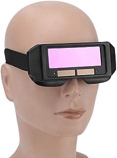 JNT- No Frame Solar Auto Darkening Welding Helmet Eyes Protector Welder Cap Goggles Machine Cutter Soldering Mask Filter Lens Tools (Color : Purple)