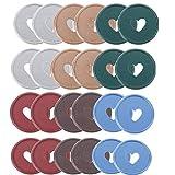 Discos de encuadernación de libros Discos de anillo de plástico para encuadernación de libros de 1,4 pulgadas para DIY Cuadernos Planificadores (90)