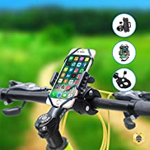 Saza Tech S018 Universal Bike Phone Mount - Strong Nylon Clip Mount Anti Shock and Secure Bike Cell Phone Holder, for 3.5-5.8 inch Smart Phones - Black