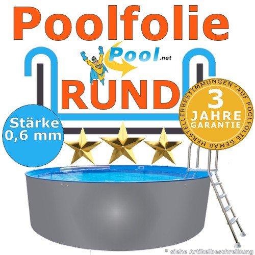 Freizeitwelt-Online Poolfolie 3,50 x 0,90 m x 0,6 mm Schwimmbadfolie Innenhülle Auskleidung 3,5 m Ersatzfolie Pool 350 cm Ersatz Innenfolie rund Pools 0,9 m Rundpool