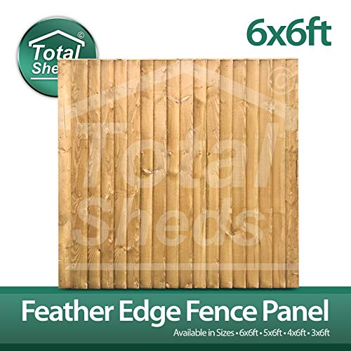 Total Sheds 6x6 (1.83m x 1.83m) 6ft x 6ft Feather Edge Featheredge Heavy Duty Close board Fence Panels In Stock Ready To Go
